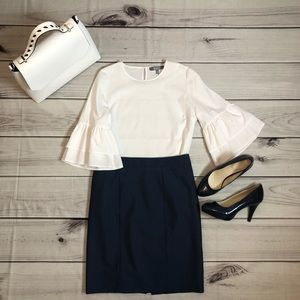 Navy  blue Ann Taylor pencil skirt